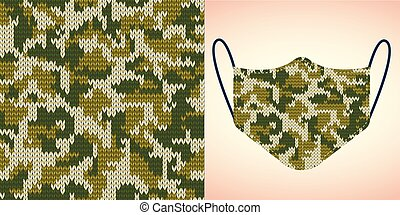 funny background pattern seamless for face mask, pillow, print, fashion, clothing, fabric, gift wrapping. face mask layout template seamless pattern. Vector.