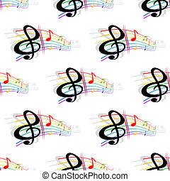 Seamless background music pattern