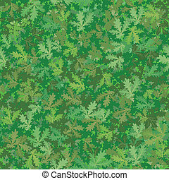 Seamless background, oak leaves