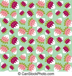 Seamless background of a sweet strawberry