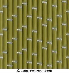 Seamless background of bamboo stalks, vector illustration.