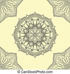 Seamless background of circle floral pattern
