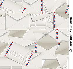 Seamless background of envelopes
