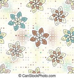 seamless background of ethnic flower