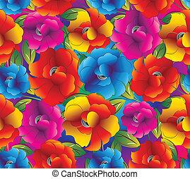 Seamless background of fancy flower