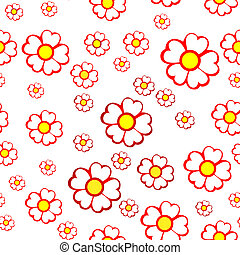 Seamless background of flowers