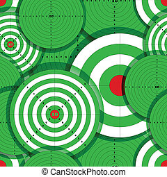 Seamless background of green target