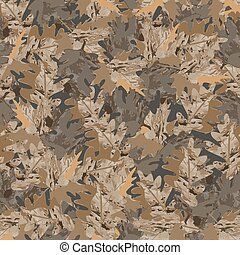 Seamless background of leaves 1