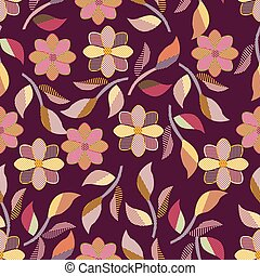 Seamless background of leaves 3