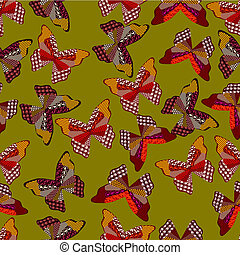 Seamless background of leaves 4