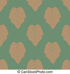 Seamless background of leaves. The style boho