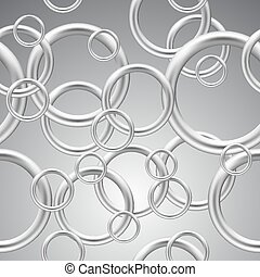 Seamless background of metal rings.