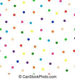 seamless background of multicolored confetti round