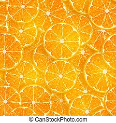 seamless background of oranges