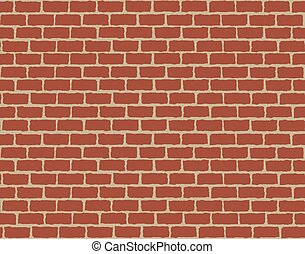 Seamless background of red brick wall