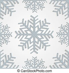Seamless background of snowflakes