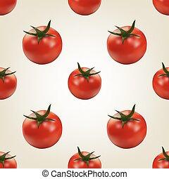 Seamless background of tomato, vector illustration.