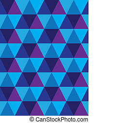 seamless background of triangle & diamond geometric shapes- vector graphic. This illustration consists of repetitive mosaic tiles pattern made of blue, violet, purple colors