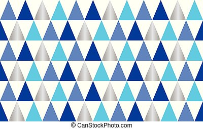 background of triangles in blue, silver and white