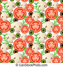 Seamless Background of Vegetables