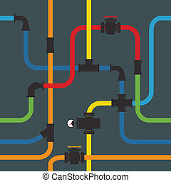 Seamless background of water pipeline