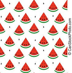 Seamless background of watermelon