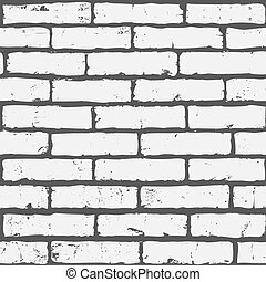 brick wall - Seamless background of white brick wall texture