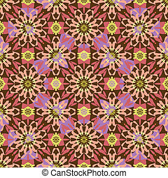 Seamless background oriental ornament kaleidoscope -...