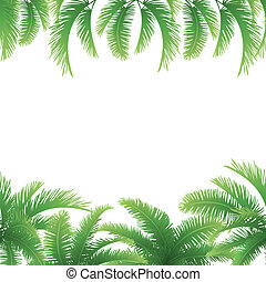 Seamless background, palm leaves
