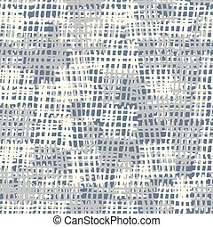 Seamless background pattern. Gray burlap vector. Imitation of canvas