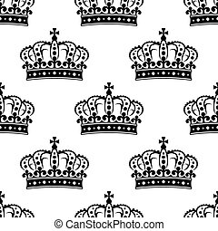 Seamless background pattern of a royal crowns