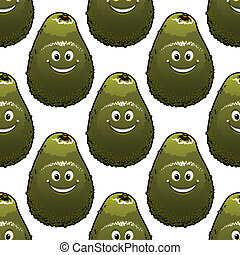 Seamless background pattern of avocado
