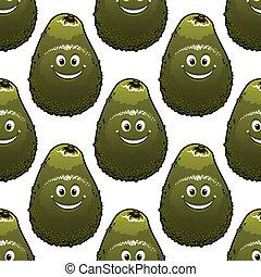 Seamless background pattern of avocado