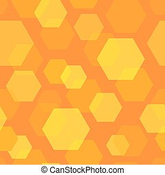 Seamless Background Pattern of Honeycomb