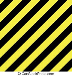 Seamless background pattern of yellow and black stripes. Danger, police or under construction theme. Vector illustration