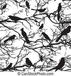 Seamless background pattern tree wi
