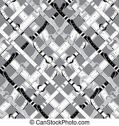 Pattern in nautical style with belts. - Seamless background ...