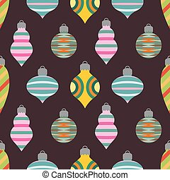 Seamless background pattern with Christmas baubles