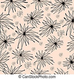 Seamless background pattern with edelweiss.eps