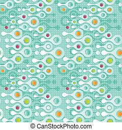 Seamless background pattern with metaball form.