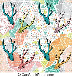 Seamless background pattern with poligonal form.