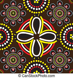 Seamless background with ornament of Australian Aborigines