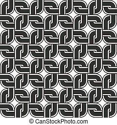 Seamless background round corner square cross geometry chain...