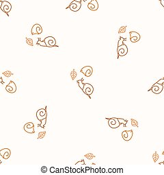 Seamless background snail gender neutral pattern. Whimsical minimal earthy 2 tone color. kids nursery wallpaper or boho cartoon mollusc fashion.