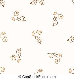 Seamless background snail gender neutral pattern. Whimsical minimal earthy 2 tone color. kids nursery wallpaper or boho cartoon mollusc fashion.