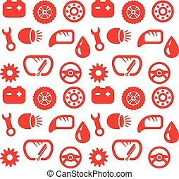 Seamless background spare parts