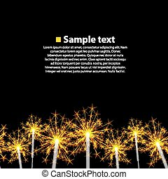 Seamless background sparkler black. Illustration art 10eps