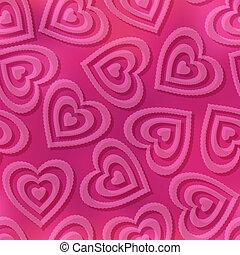 Seamless background, Valentine hearts - Valentine holiday...