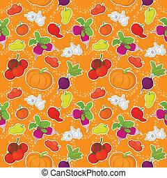 Seamless background, vegetables