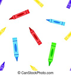 seamless background Wax colorful crayons